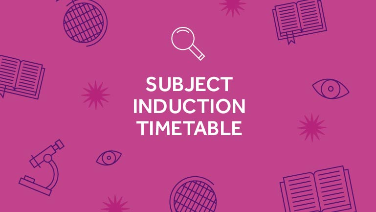 Subject induction timetable